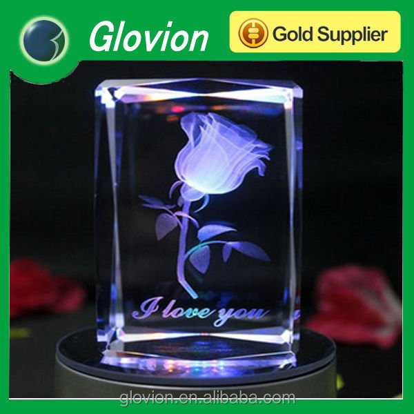 Valentines gifts romantic crystal rose gift wedding artificial flowers making light-up artificial flower