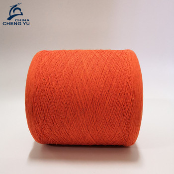 cotton yarn 20/1 colorful recycled cotton dyed knitting yarn china manufacturer importer