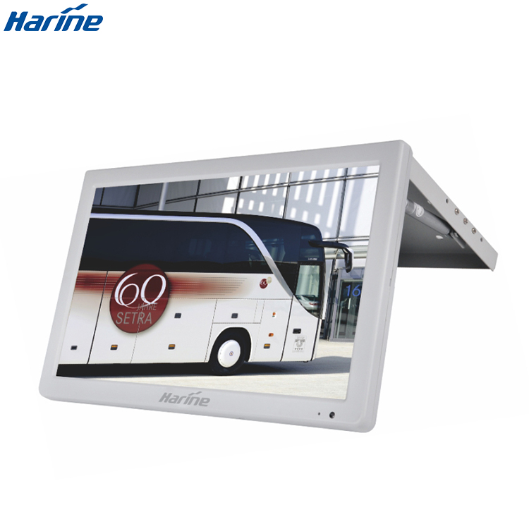 18.5 inch bus lcd monitor with av input with brightness 250 cd/m2 monitor