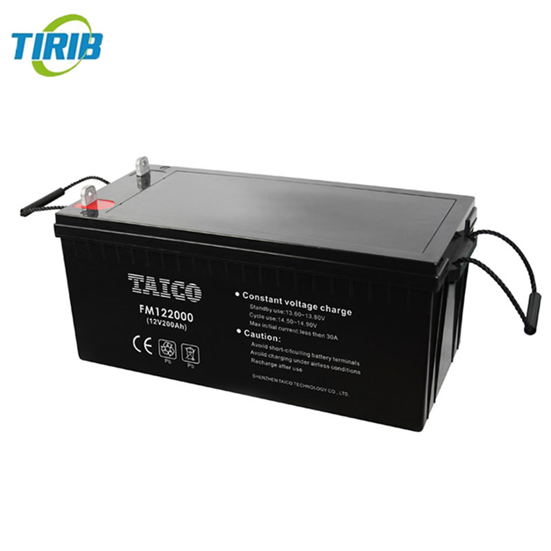 24v 200ah solar street light rechargeable AGM deep cycle battery