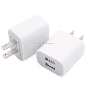 High Quality US type 5V 2A Dual USB Power Adapter USB Wall Charger For Mobile Phones