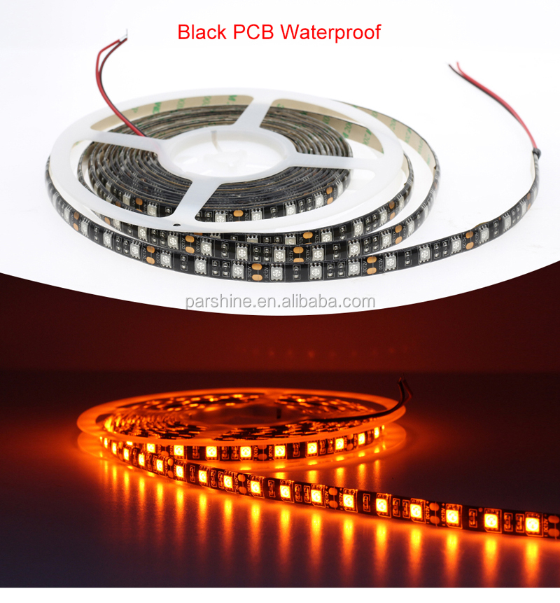 Nice LED Dream Bar Strip Light SMD 5050 5050 LED Strip Orange Color Black / White PCB Waterproof Lights