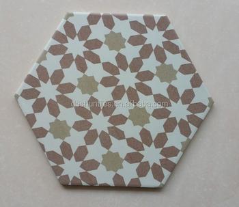decorative porcelain hexagonal ceramic tile wall tile