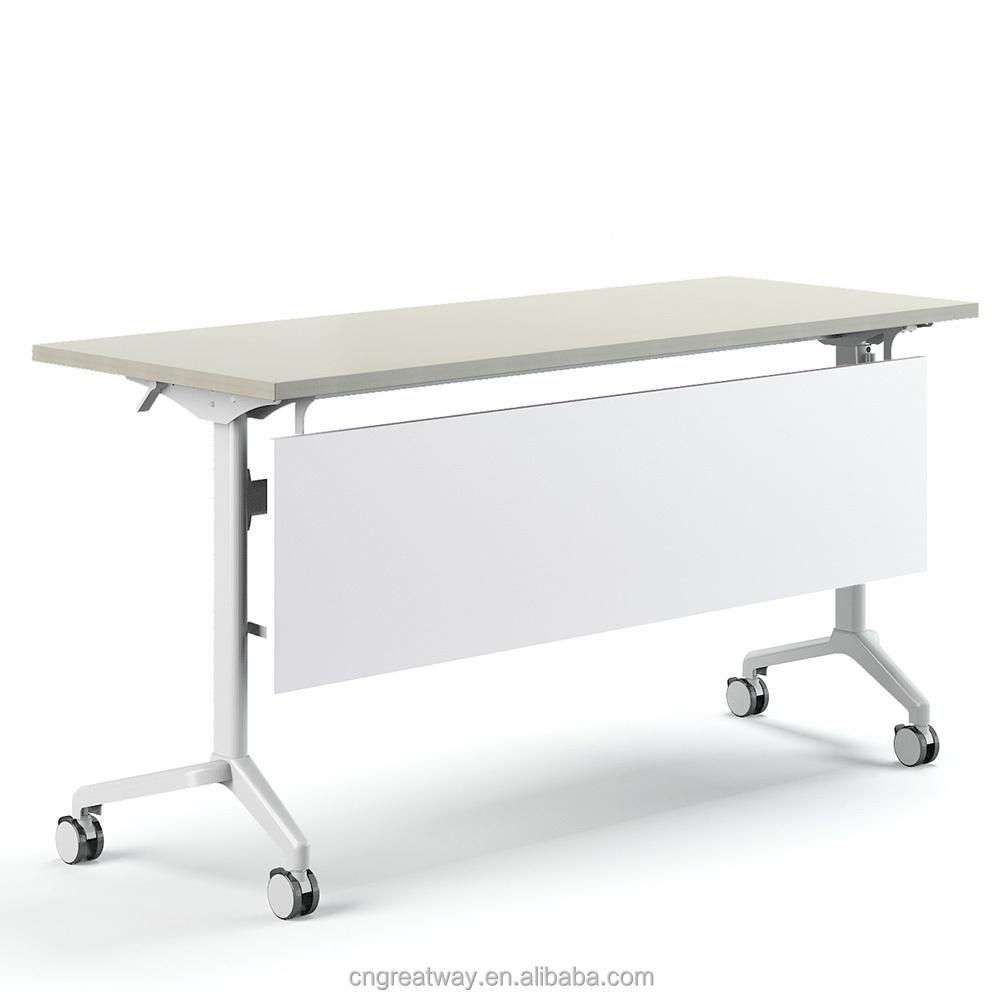 - Greatway Folding Desk With Wheels Office Meeting Training Folding
