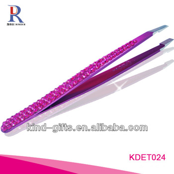 Luxurious Rhinestone Diamond Crystal The Best Eyebrow Tweezers Supplier|Factory|Manufacturer