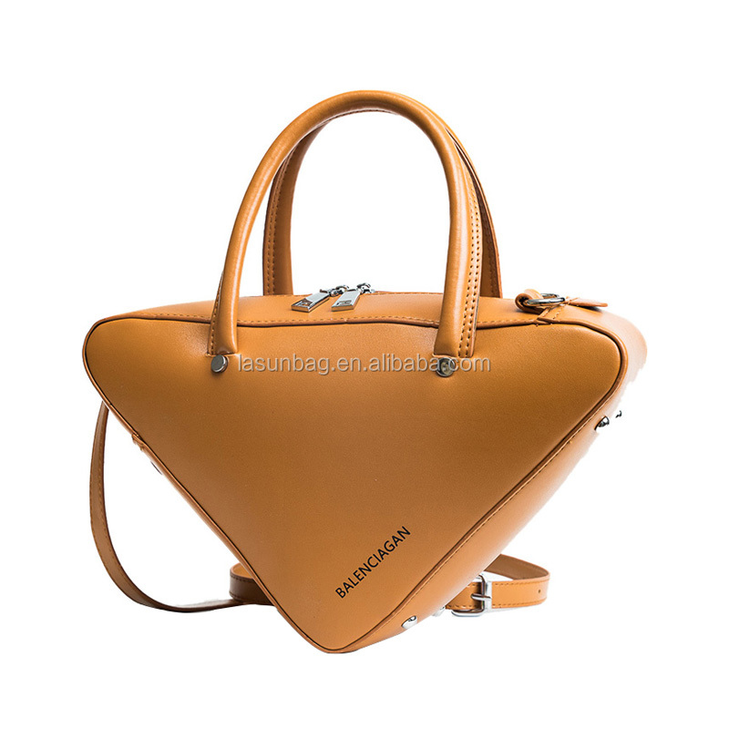 New Stylish Leather Long Strap Triangle Shoulder <strong>Handbags</strong>