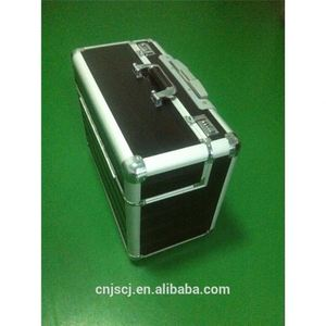 Silver ABS tool trolley case hight quality with lock very farm durable aluminum tool case with handle with wheels