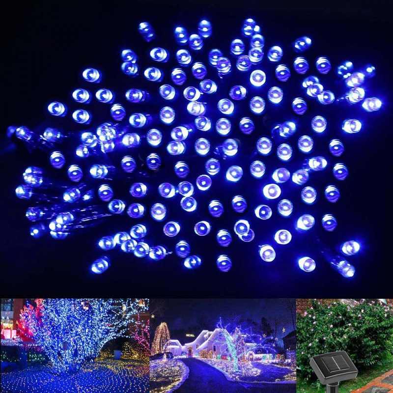 10m 60 led string solar light garden outdoor xmas christmas party fairy lamp in solar lamps from. Black Bedroom Furniture Sets. Home Design Ideas