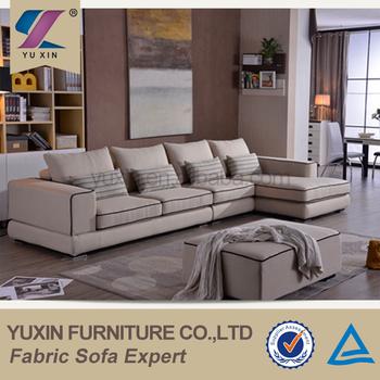 2017 New Cream Color Soft Line Sofa