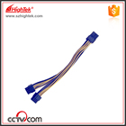 100pcs PCI-E PCIe PCI Express 8Pin Female to Dual Double 2-Port 8Pin ( 6+2Pin ) Male Adapter GPU Video Card Power Cable 18AWG 20