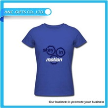wholesale custom round neck t shirt with sublimated printing 100% cotton blank China factory