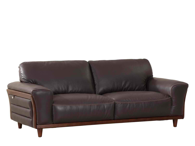"Blackjack Furniture Montgomery Modern Italian Leather Sofa, 87"""