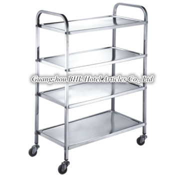 Stainless Steel Kitchen Trolley Cart Serving Trolley Sundries Storage Rack  Moving Trolley F44
