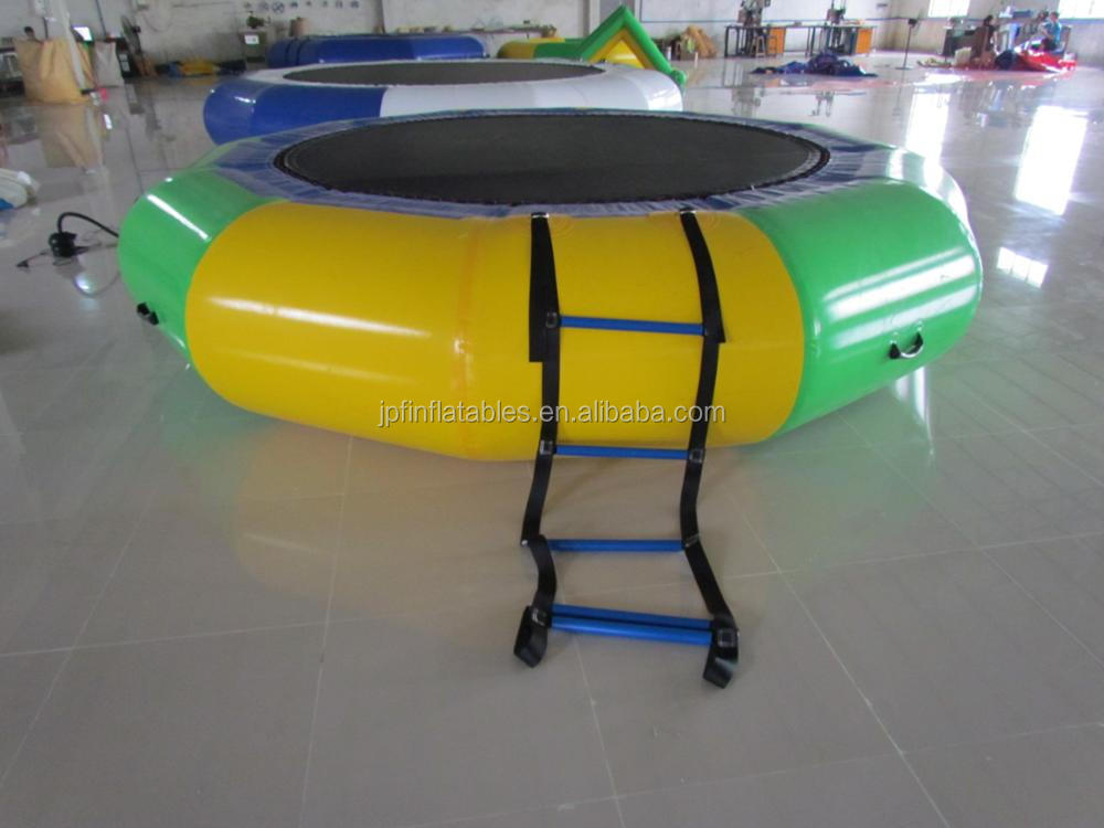 water park toys children fun inflatable jump trampoline with elastic and ladder