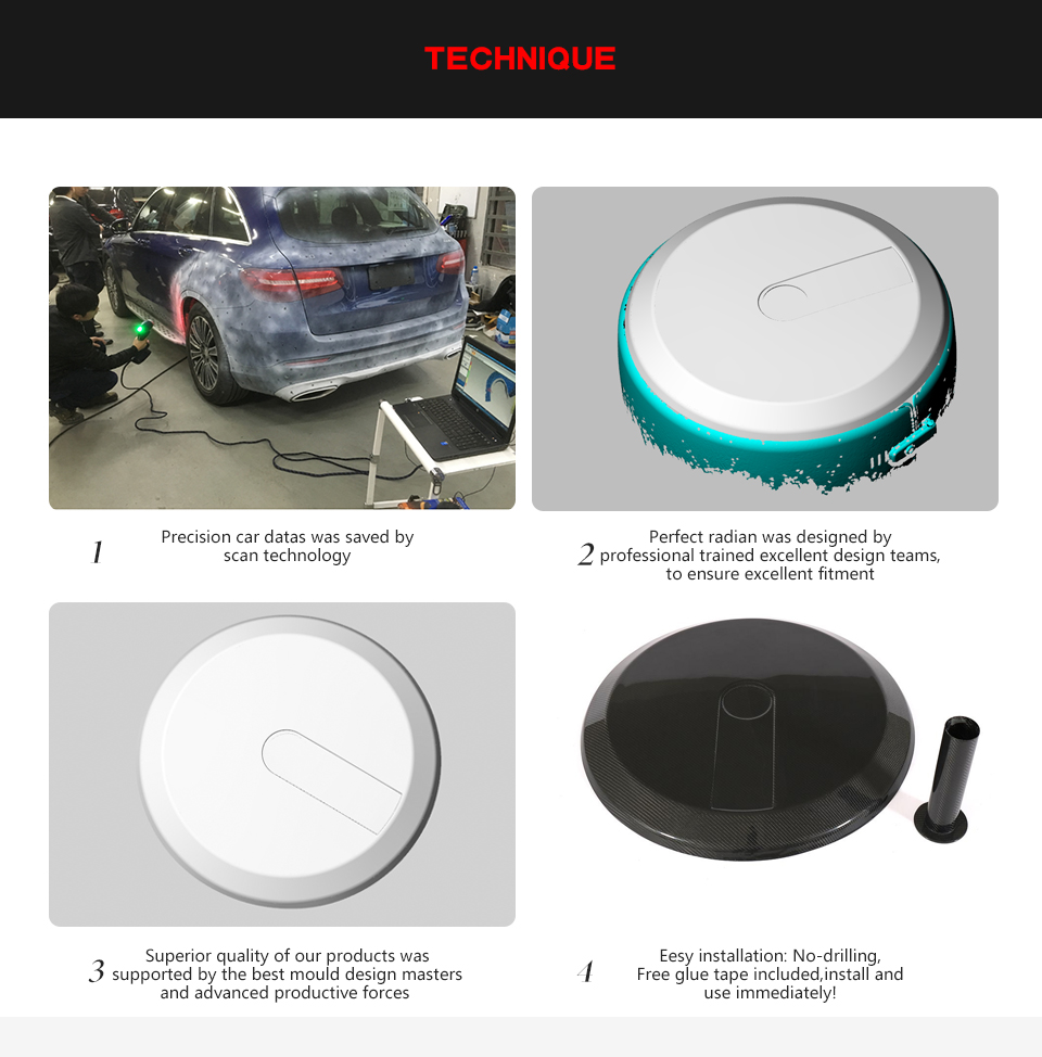 G-CLASS W463 Tire cover end cap for g63 g65 g500 PVC material