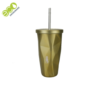 No minimum GV008 450ML/15OZ Double Wall Travel Stainless Steel Tumbler Cup With Straw