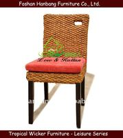 Modern Wicker Dining Chair rattan back chair with cushion