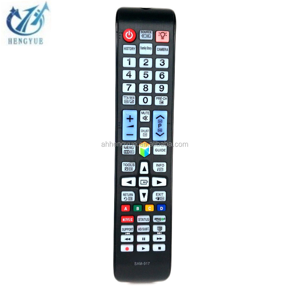 In Stock TV Replacement Remote Control SAM-917 3D Smart TV with backlight Universal Controller