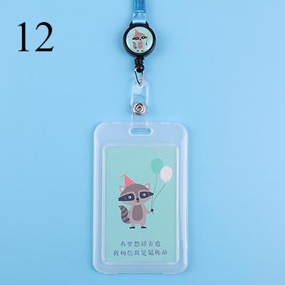 Милый мультяшный Кот, прозрачный держатель для удостоверения личности, держатель для карт с пряжкой и именем, держатель для карт Kawaii Dogs, выд...(Китай)
