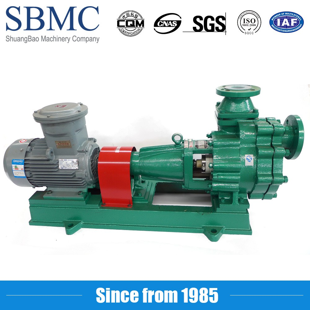 Teflon Lining Horizontal Centrifugal pump for HF rinse waste sump