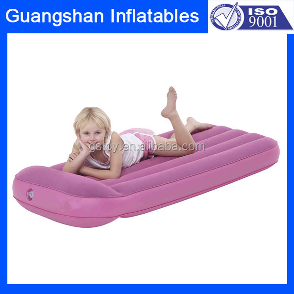 camping portable sleeping inflatable flocking kid travel bed
