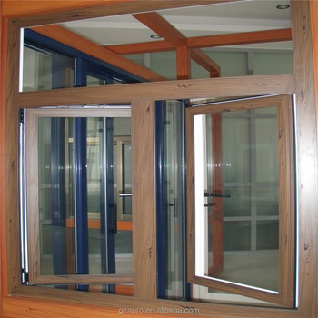 Standard size aluminium wooden windows used exterior for Wood windows for sale online
