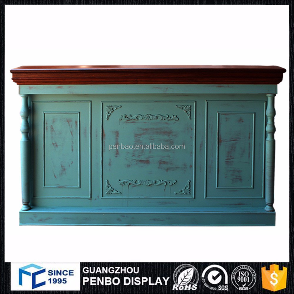 New style custom modern mini wood shop commercial hotel bar office reception front desk counter with best design