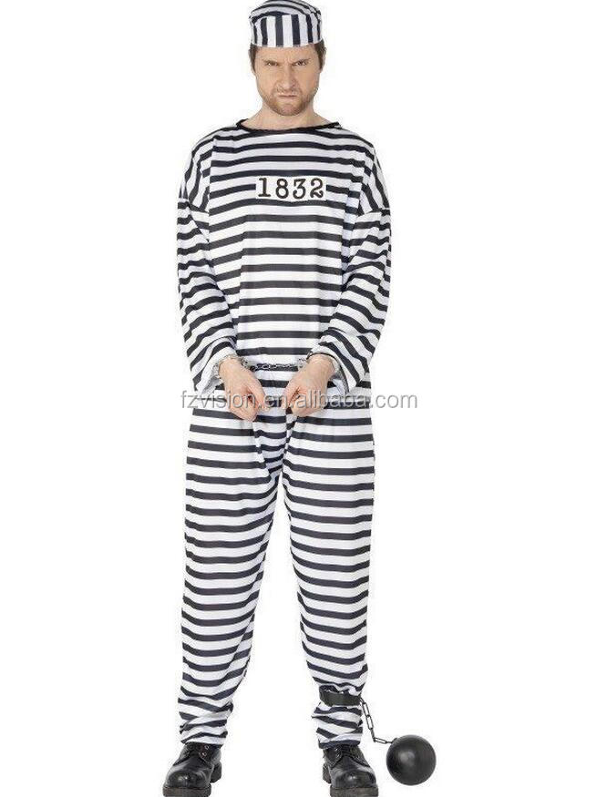 Wholesale Halloween Party Costumes For Man Prisoner Cosplay Costumes 1832