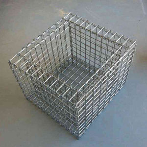 Decorative Gabion Baskets Hot Dipped Galvanized Wire Mesh Galvanized Gabion Box