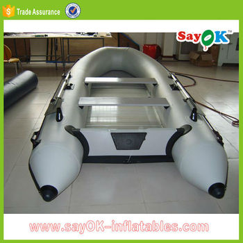 Large pvc hull inflatable pontoon boat with outboard motor for Boat motors for sale in sc