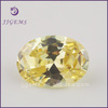 Top quality 8*10mm light yellow cubic zirconia for ring