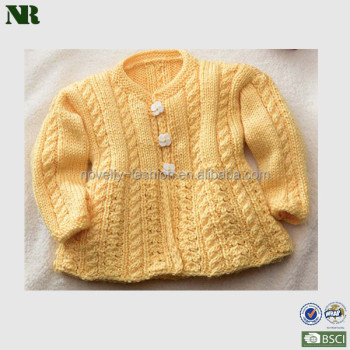 2014 new design Knitting sweater of girls