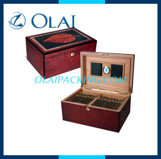 Elegant Wooden Humidors Case,Cigar Packaging Box