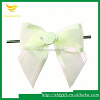 Organza ribbon bow making machine