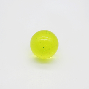 colorful bright solid 27mm 32mm 45mm clear ball with glitter crystal bouncing ball