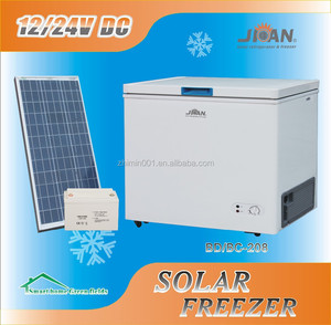 BD/BC 208L dc 12V/24V compressor solar refrigerator freezer for car and portable