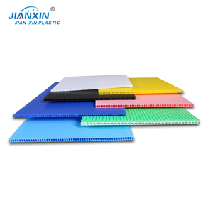 PP Colored Recycled Flexible Folding Corrugated Plastic Sheet Packaging