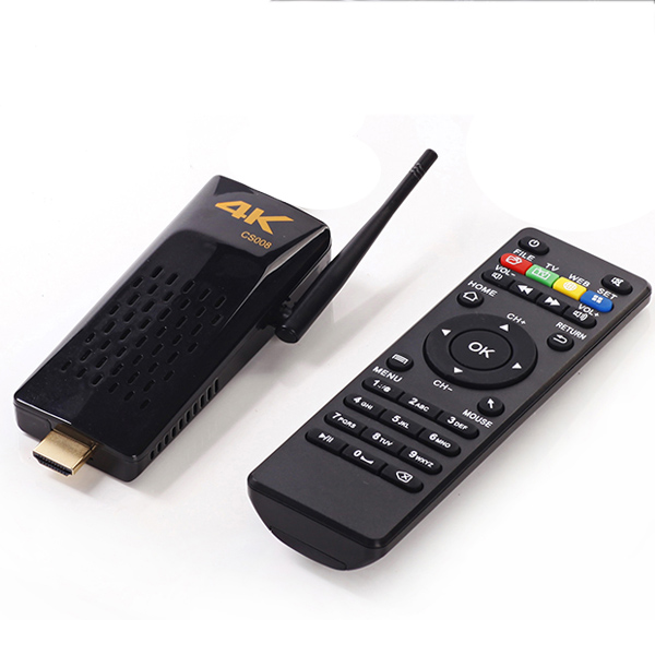 Android 4.4 Bluetooth 2GB+8GB WiFi Bluetooth 4K Player CS008 android <strong>tv</strong> <strong>dongle</strong> with remote RK3288 Quad core Smart <strong>TV</strong> <strong>Box</strong>