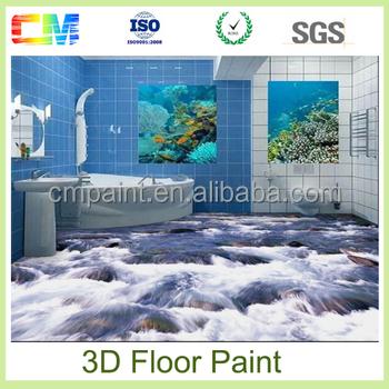 Forte Mural Étanche Pour Salle De Bain Couleurs Peinture 3d Vinyle  Revêtement De Sol Époxy - Buy Couleurs De Peinture,Peinture Époxy De  Plancher ...