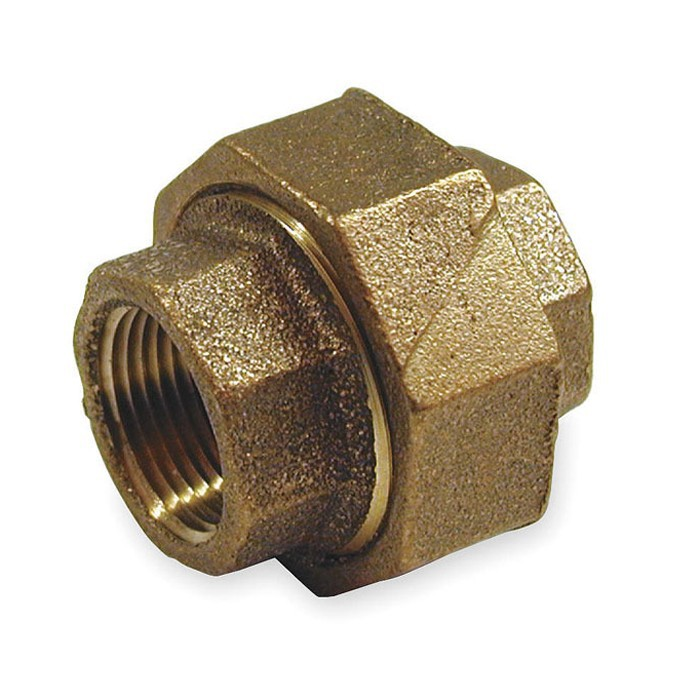 "Top Rated 1/2""NPT Female Brass Union 200Pcs/Case Bathroom Water Pipe Systems Accessories Equal Union"