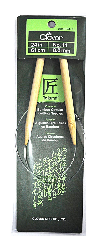Clover Takumi Bamboo 24 Inch Circular Knitting Needle Size 11