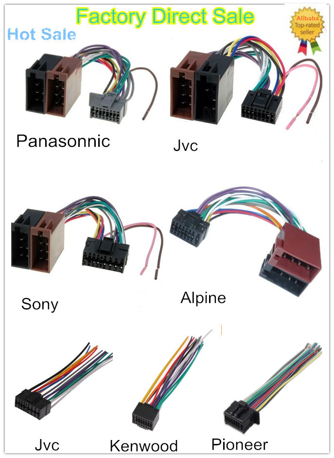 new style car audio wiring harness with iso male plug connector rh alibaba com Automotive Wire Harness Manufacturers USA OEM Wiring Harness Connectors