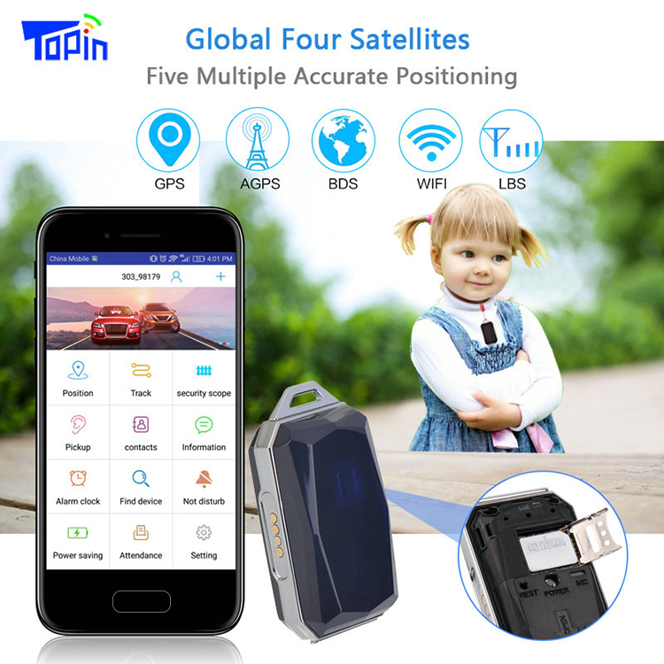 G12S mini necklace style IP67 waterproof GPS tracker, GSM quad band Wifi GPS LBS smart locator