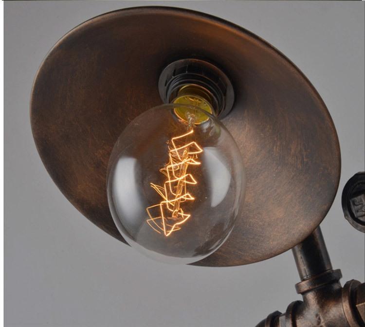 Steampunk Lamp Robot Lamp Water Pipe Lighting Table Lamp Edison ...