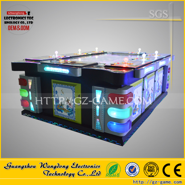 High refund Hunter Fish video gambling tables / 30 level fishing arcade game ocean king 2 enhanced