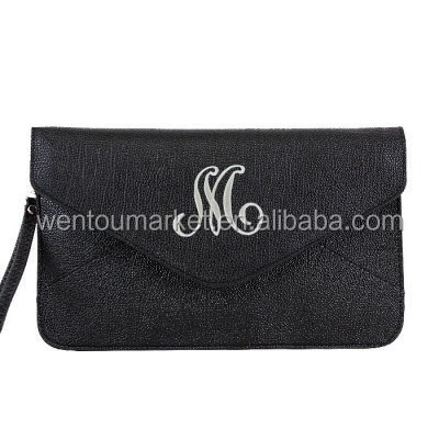 Black Large Monogram Clutch Wristlet Crossbody