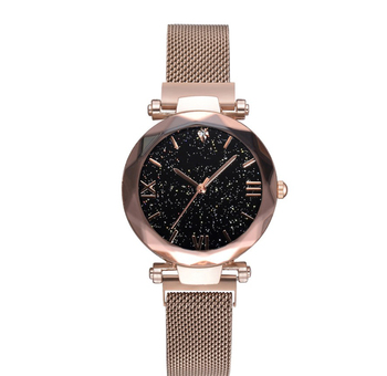 2019 Best Seller Ready Stock Watch Mesh Belt Fashion Ladies wristWatch Magnet Watch Quartz Wrist Watch Women