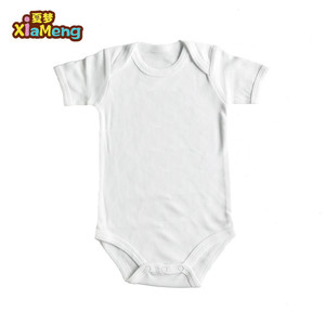 Custom baby clothes 100% cotton short sleeve plain baby romper blank