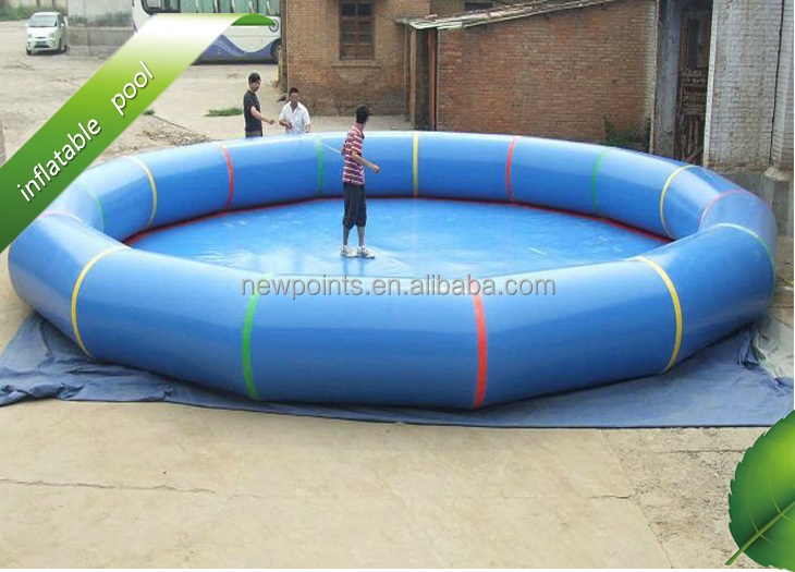 Bule water pvc trampoline cheap inflatable pool toys for for Cheap inflatable pool