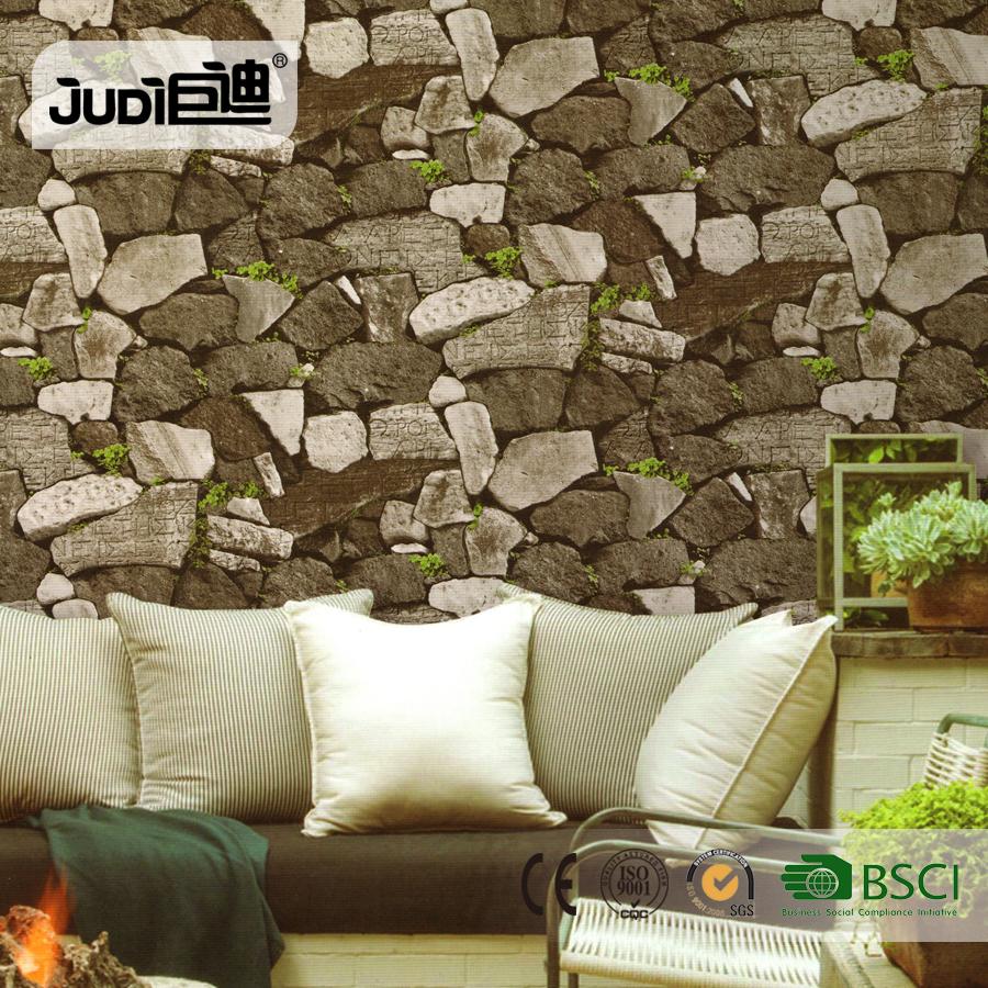 Beste prijs woonkamer interieur steen 3d behang voor for Interieur steen